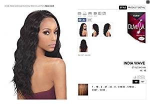 Buy Outre Duvessa Remi 100 Human Hair Weave Paris Wave Colour