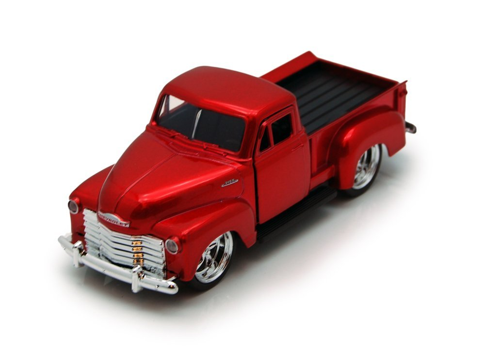 1953 Chevy Pickup Truck, Red - Jada Toys Just Trucks 97007 - 1/32 scale Diecast Model Toy Car