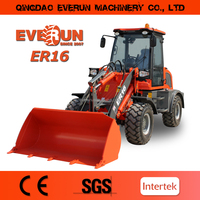Made in China Qingdao Everun 1.6Ton Mini Front End Loader with Euroiii and EPA Engine