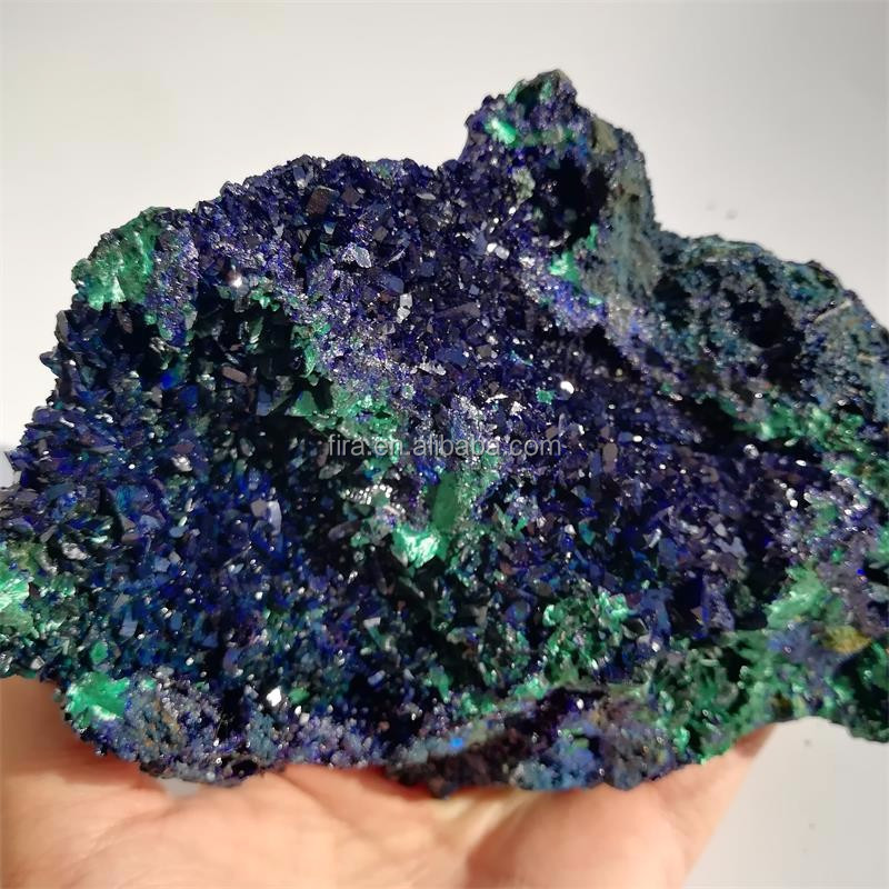Decorative Rough Blue Azurite Crystal Specimen Raw Stone Azurite And Malachite Mineral Specimen For Fengshui