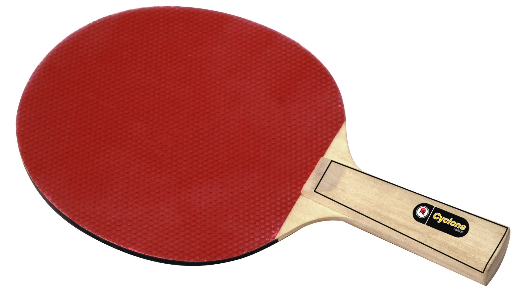 Martin Kilpatrick Cyclone Bulk Table Tennis Rackets - 100 Pack of Ping Pong Paddles with Rubber