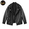 iGift BSCI Factory Audit black color men leather jacket