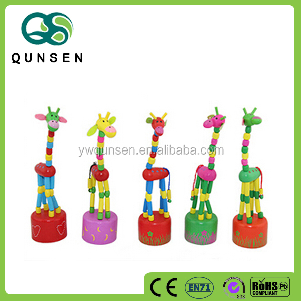 Wholesale hand puppets wooden animal toys for kids