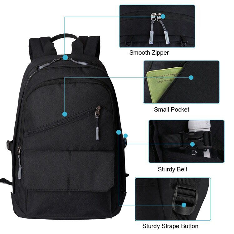 OEM large capacity outdoor usb charger sport laptop backpack
