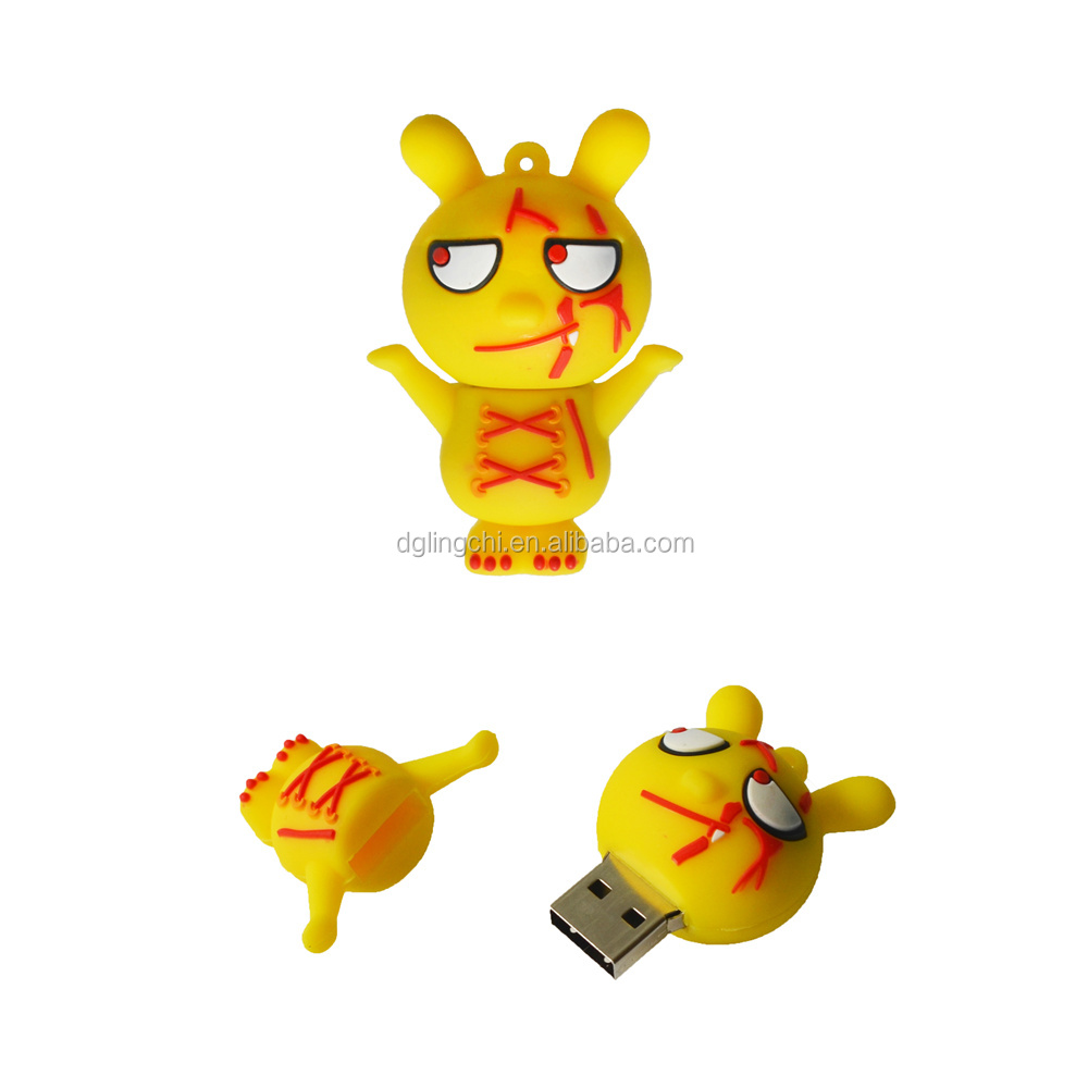 2018 Cheap plastic pvc cartoon 3D character figure usb flash drive memory stick for promotional