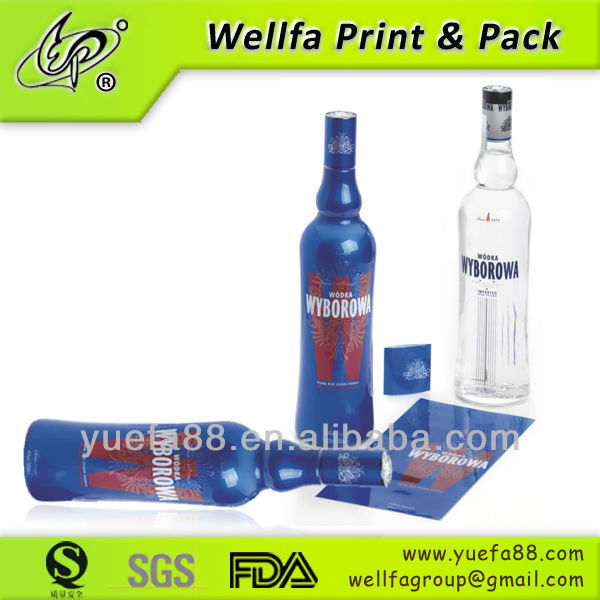 PET / PVC heat shrink sleeve label for glass beer bottle label