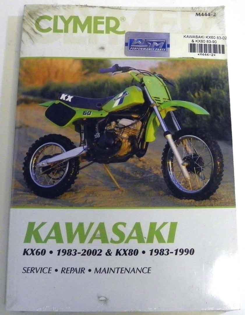 Get Quotations · ATV/Moto-X Kawasaki Clymer Manual Models KX 60-80 Hp 1983-