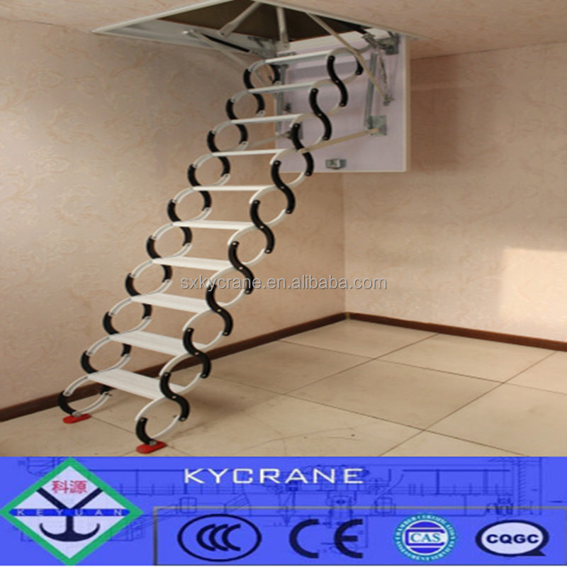 Remoto Retráctil Ático Escaleras Plegables Escalera Loft Para Villa ...