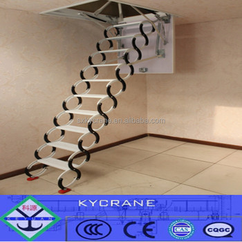 Remote Retractable Attic Stairs Folding Loft Ladder For