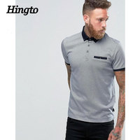 Men allove printing polo tshirts with ribbed cuffs and chect pocket