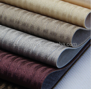 Fashion Metallic Glitter Home Decoration Upholstery PVC Synthetic Leather Manufacturers