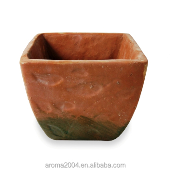 decorative concrete planter hand made clay pot