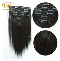 Alibaba Website Top Quality Double Drawn 120g 160g 220g Remy Clip in Hair Extension,Cheap Price Hair Extension Clip in