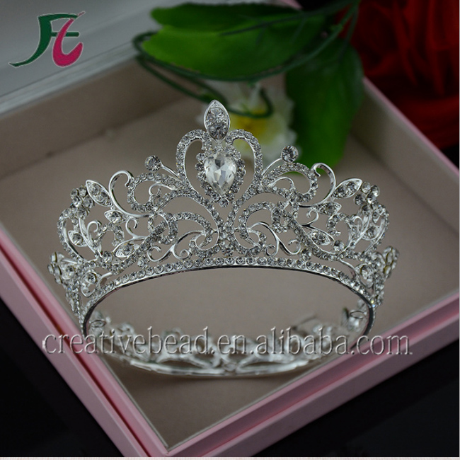 High Quality Handmade Bridal Crystal Crown For Wedding Pageant Crystal Crowns With Hair Accessories