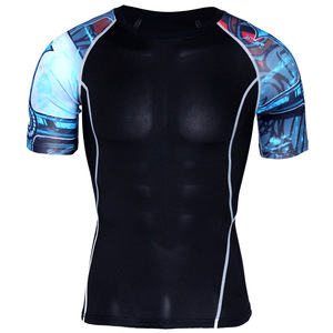 Alibaba Hot Sell High Quality T-shirt Men Sporting Clothing Short Sleeve T shirts Quick Dry Fit Tops & Tees