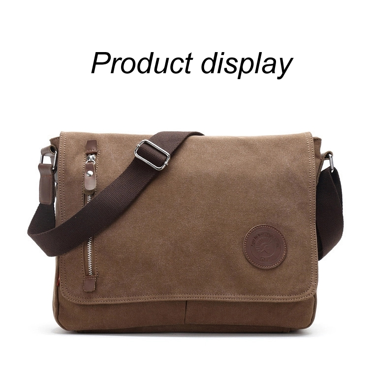 Wholesale 2019 canvas mens college student shoulder bag