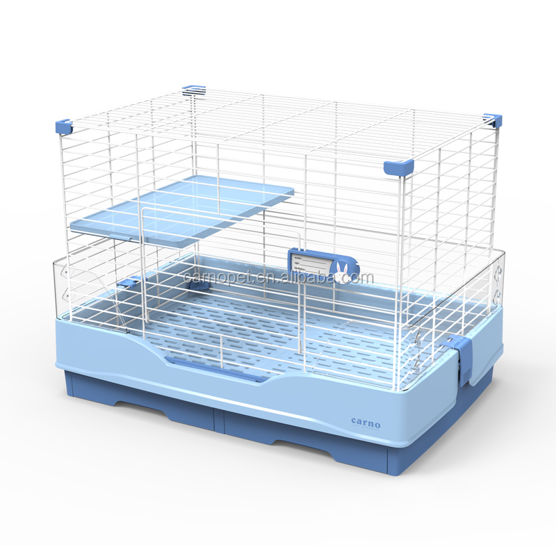 Carno Rabbit Cage Easy Assamble Folding Wire Cage Hutch for Rabbits Easy Clean Durable indoor Cage for Small Cats and Dogs