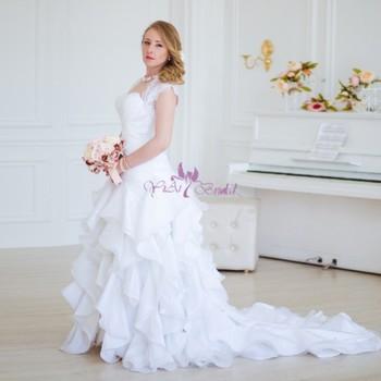 Rsw754 Motif à Volants Jupe Blanc Robe De Mariée Avec Manches Buy Robe De Mariéerobe De Mariéerobe De Mariée à Manches Product On Alibabacom