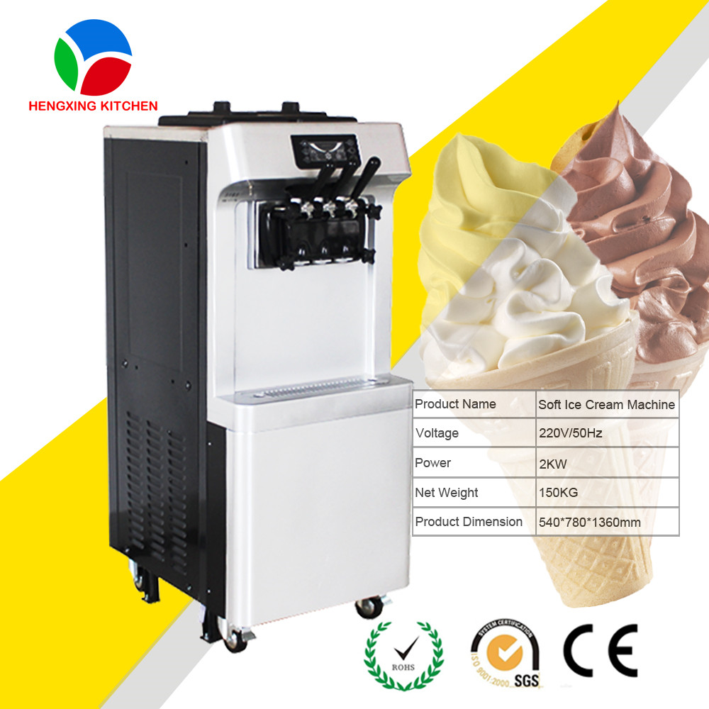 Commercial automatic rainbow soft ice cream cone making machine
