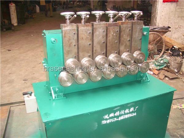 China hot sale 11 wheels straightening machine for brass/aluminum