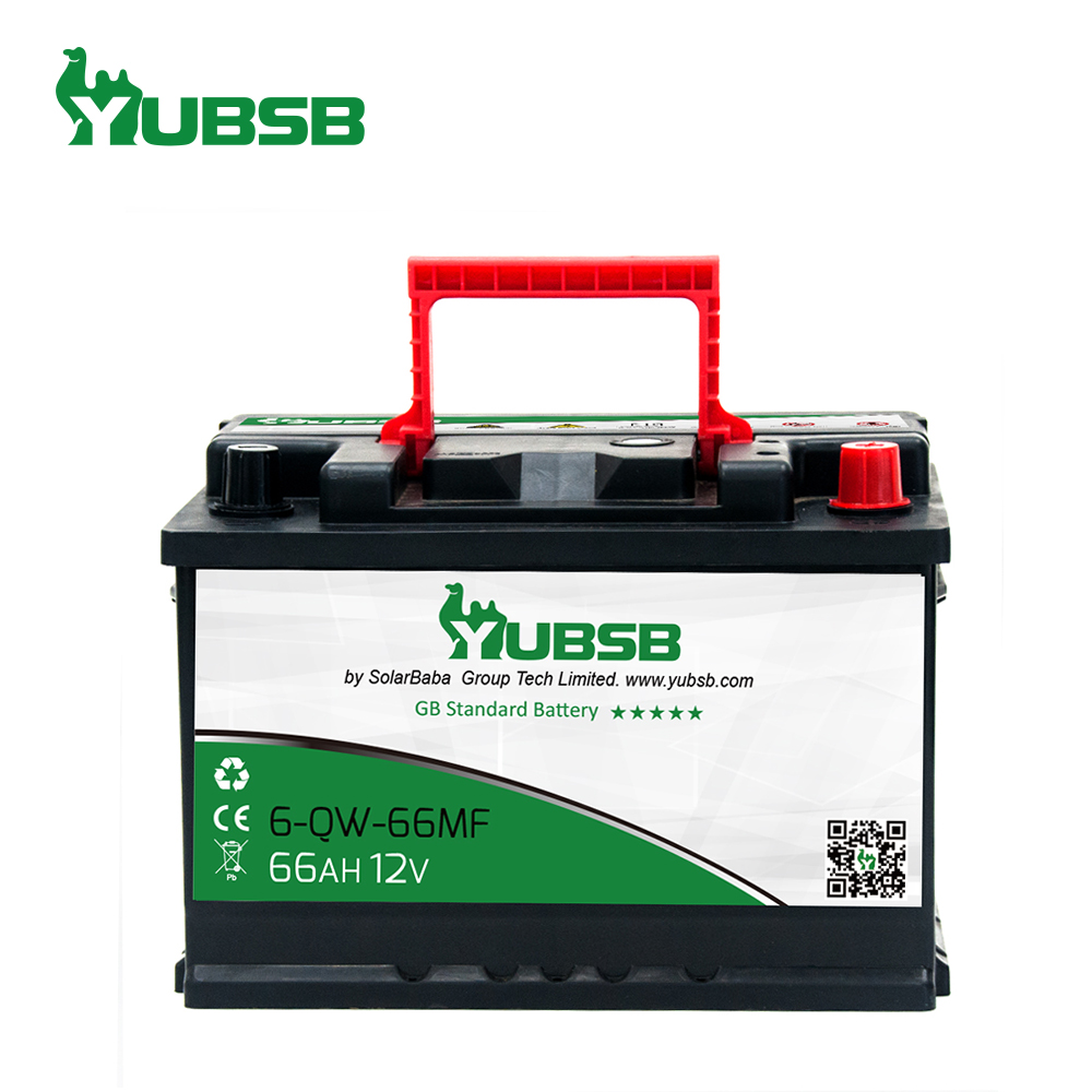 Newest DIN Standard Good starting performance 12v 66ah mf car battery auto battery