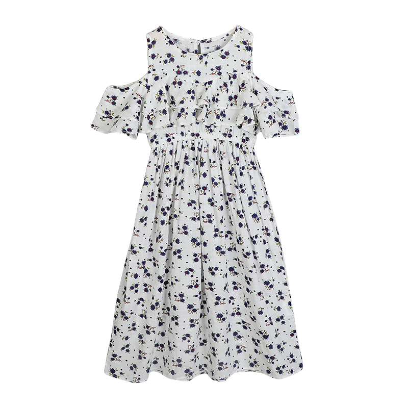 50aeb6dab6 2018 Hot sale sleeveless black and white stripe flower summer toddle girl  boutique dress