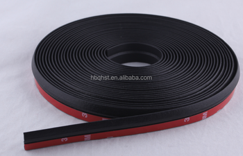 factory custom black 3m self adhesive backed flat rubber bumper lip universal seal strip for car. Black Bedroom Furniture Sets. Home Design Ideas