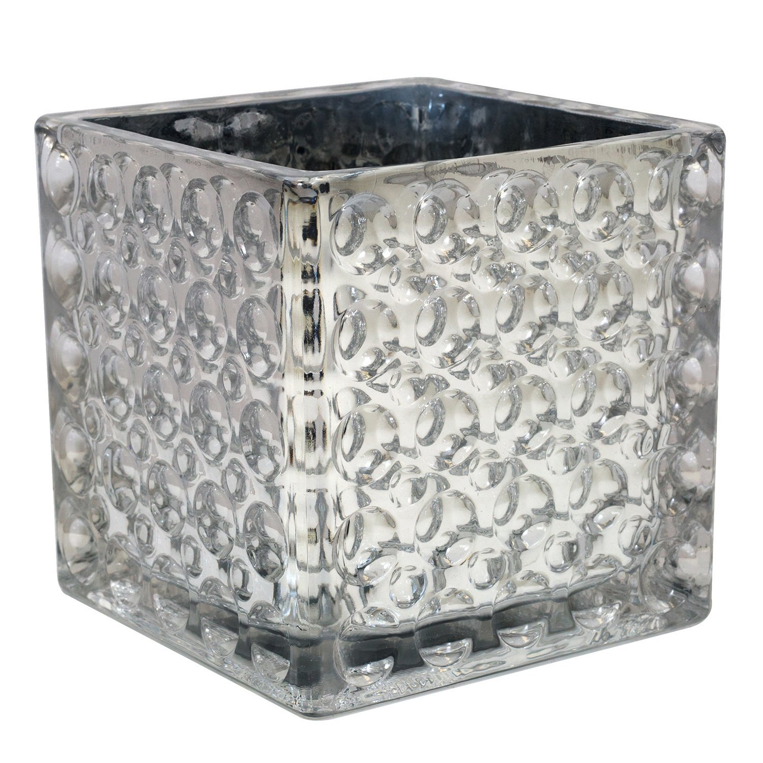 Cheap silver glass vase find silver glass vase deals on line at get quotations flower glass vase decorative centerpiece for home or wedding by royal imports elegant dimple effect reviewsmspy