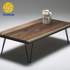 Wholesale Chinese Factory Price Hairpin Iron Metal Short Leg Dining Table
