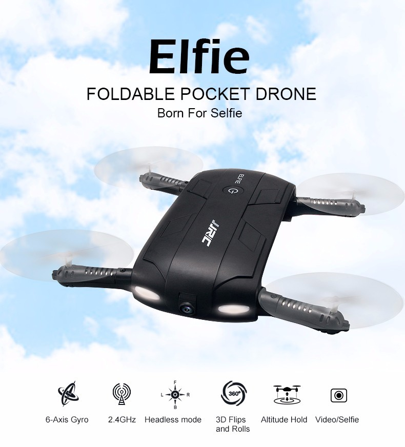 JJRC H37 ELFIE Foldable Mini RC Selfie Drone WiFI FPV HD Camera Mini RC Drone With 720P Camera G-sensor VS H36 Drone JJRC