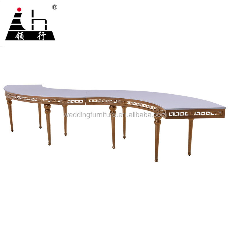 High Glass Top Banquet Furniture S Shape Mdf Dining Table Buy S