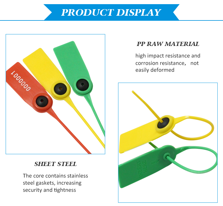 MA - PS 6004 Anti proof adjustable length airline safety pull tight plastic luggage plastic seals