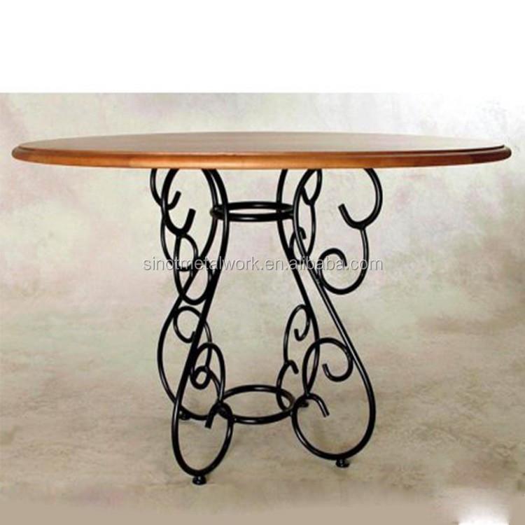 Wrought Iron Round Table.Decorative Metal Table Base Solid Iron Dining Table Base With Round Marble And Glass Pedestal Black Wrought Iron Table Base Buy Designer Metal Iron