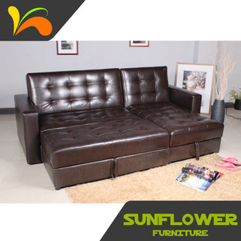 Brown Leather Turkish Corner Sofabed Furniture - Buy Turkish ...