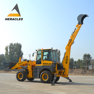 low price high quality ce small garden bucket teeth backhoe loader excavator with swing rear axles