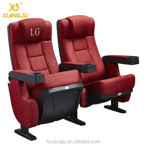 leather cover home recling theater chairs/cinema seating with movable cupholder