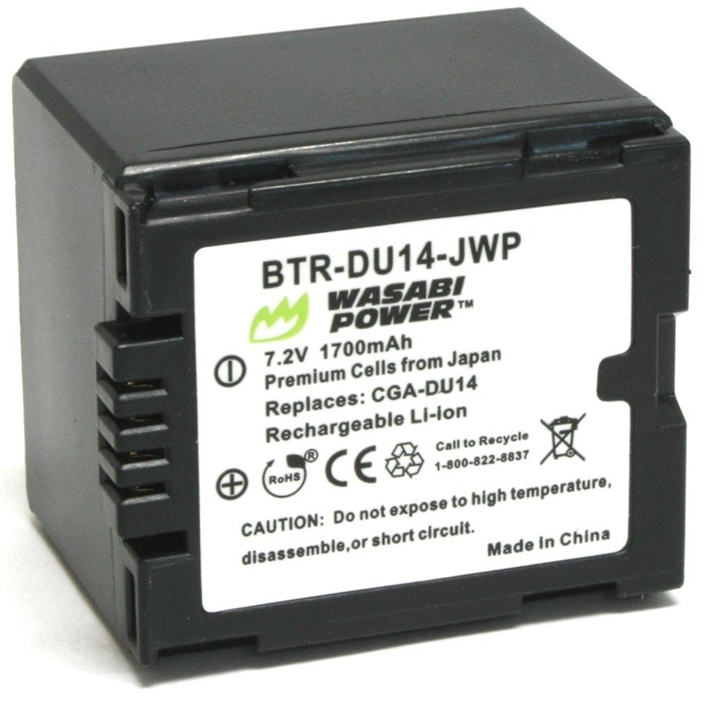 Wasabi Power Battery for Panasonic CGA-DU12, CGA-DU14, VW-VBD120, VW-VBD140 and Panasonic NV-GS10, GS17, GS21, GS22, GS26, GS27, GS28, GS30, GS33, GS35, GS37, GS38, GS40, GS44, GS50, GS55, GS58, GS60, GS65, GS70, GS75, GS78, GS80, GS85, GS100, GS120, GS140, GS150, GS158, GS180, GS188, GS200, GS230,