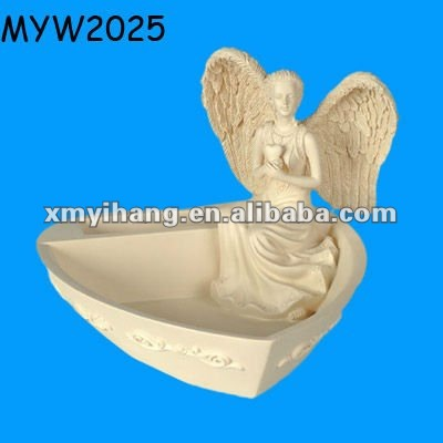 Serenity Heart ceramic trinket holder angel love candy dishes
