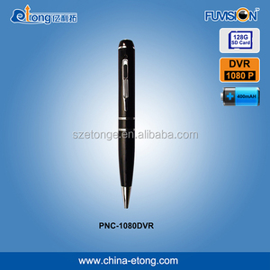 Meeting recording audio video supported security hidden 1080p/720p pen surveillance camera