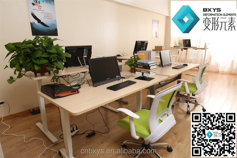 L Shaped Electric Height Adjustable Office Table Philippines With