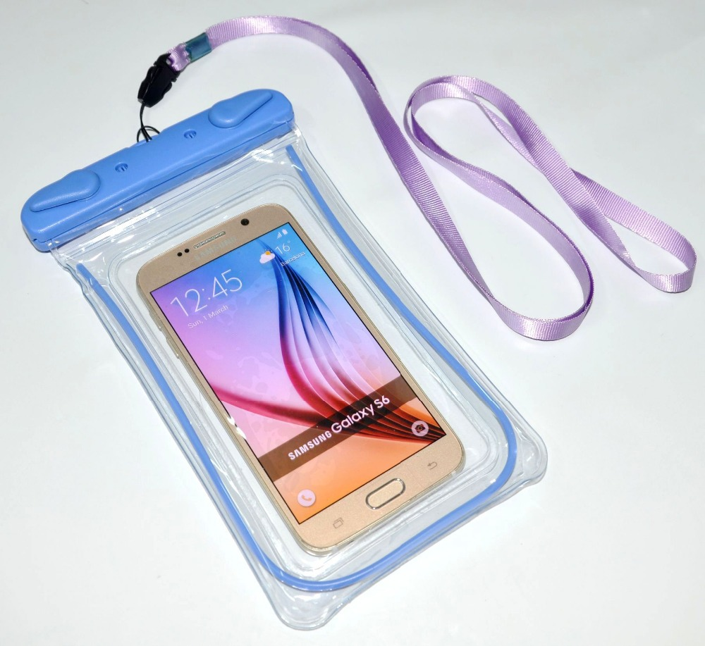 Sand Waterproof Underwater Case Cover Bag Dry Pouch For Mobile Phone 6s 6+