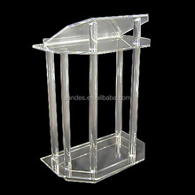 Pure Cheap Grand Plastic High Lucite Cylinder Church Podium Pulpit