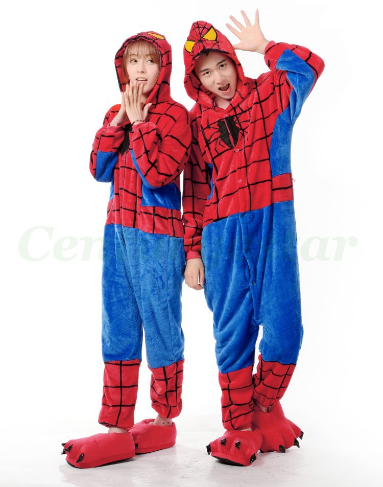 Newest anime pajamas Unisex Mens And Womens adults animal Onesie Superman costume for halloween party dress