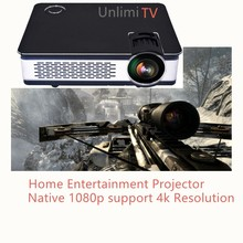 [Hot-selling] Small size and big screen native 1080p full hd led home game play cinema projector beamer