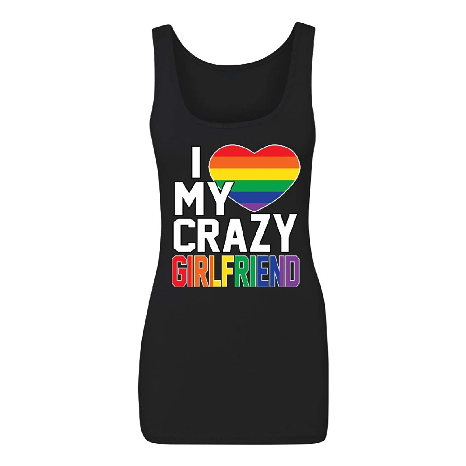 Buy I Love My Crazy Girlfriend Womens Tank Top Rainbow Gay Pride