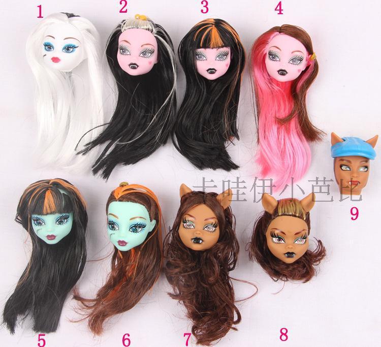 New Original 5pcs doll heads for Monster High Dolls doll accessories heads for monster toys hight