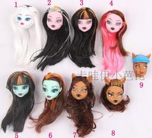 New  Original 5pcs doll heads for Monster High Dolls ,doll accessories heads for monster toys hight doll,girls gifts