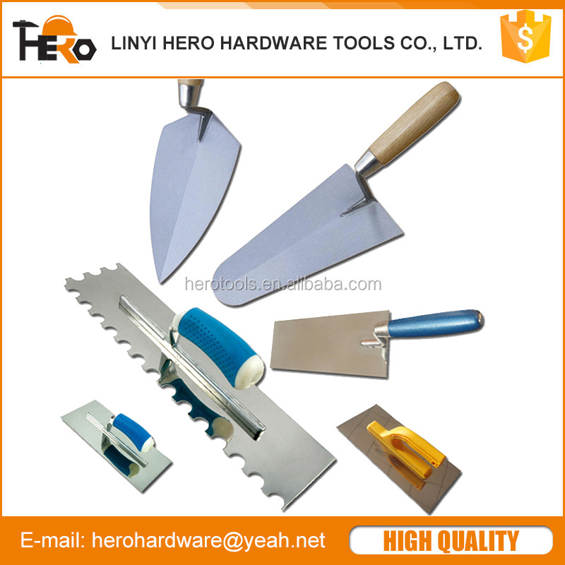 Bricklaying trowel and Plastering trowel, putty knife
