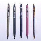 Promotional slim gold metal pen and pencils with attachments