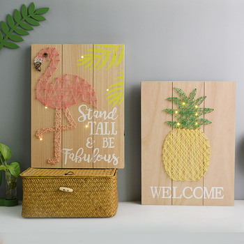 Amazon New Products String Art With Led Light For Home Decoration